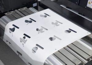 Domino K600i digital foiling and varnishing samples