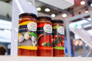 Food labels printed with UV95 ink