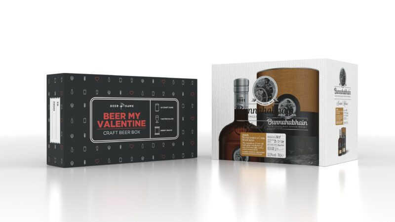 Beer and whisky box samples