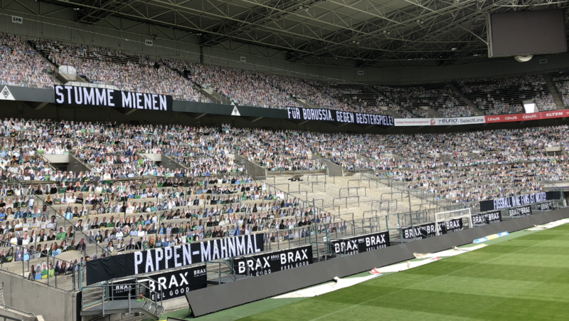 In stadium